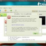 VirtualBox bajo GNU/Linux Canaima.