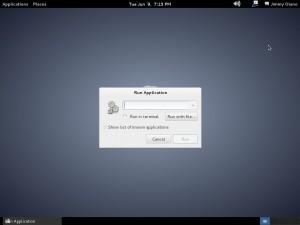 alt+f2 Debian 7 bash shell