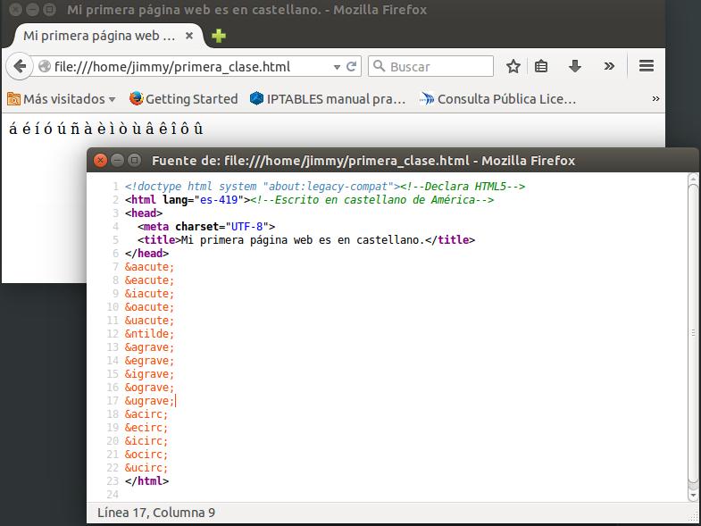 página web y código fuente