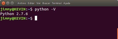 Python comando para verificar versión instalada