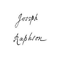 Joseph Raphson signature