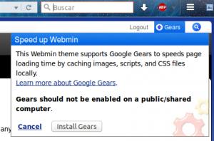Turnkey + Webmin + Google Gears