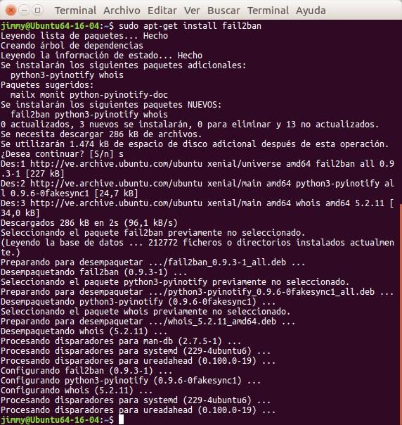 apt-get install fail2ban