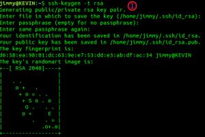 Generando llave SSH.