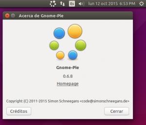 GNOME-Pie Créditos