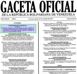 Gaceta Oficial 40775 cabecera