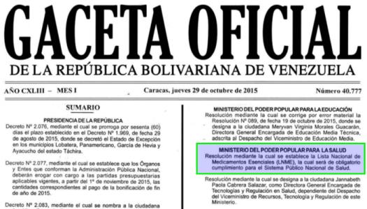 Gaceta Oficial 40777 cabecera