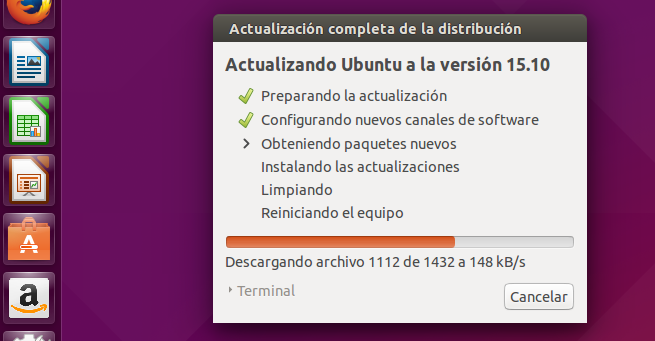 Ubuntu 15 Wily Worewolf