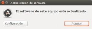 Actualización de software Ubuntu 14.04