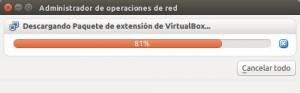 Descargando paquete de extensión 5.0.14 para VirtualBox
