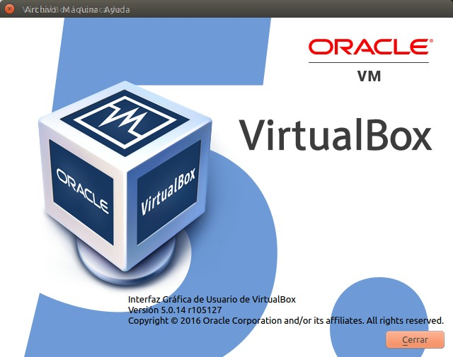 VirtualBox - Acerca de.