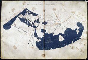 Mapa del mundo según Claudio Tolomeo.