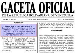 Venezuela Huso Horario 2016