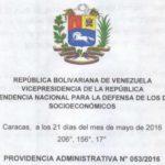 SUNDDE encabezado Providencia N° 053-2016 productos de higien personal