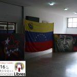 Símbolos Patrios e insignias en el auditorio del INCES, avenida Lara, Valencia, Carabobo.
