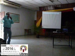 """Intervención de Dany De Cecchis en ponencia """"Software libre, para una sociedad libre""""."""