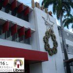 Entrada principal al INCES de la Avenida Lara minutos antes del inicio de las ponencias vespertinas del viernes 10 de junio de 2016.