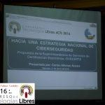 """Presentación de la ponencia """"Hacia una estrategia de CiberSeguridad y Defensa""""."""