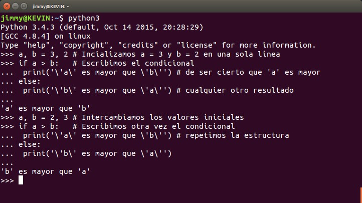 python ciclo condicional if else