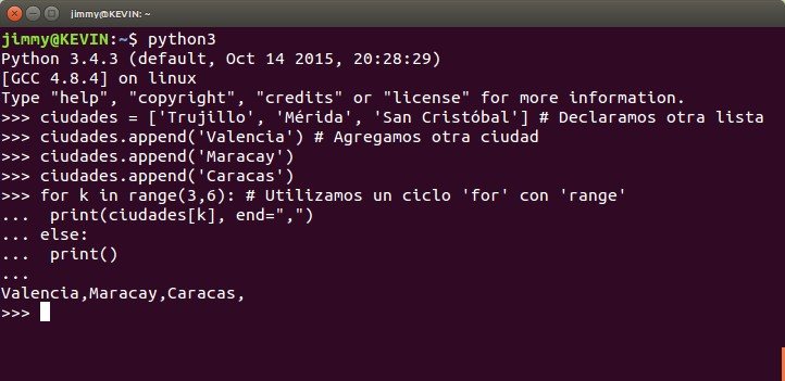 python ciclo for con else