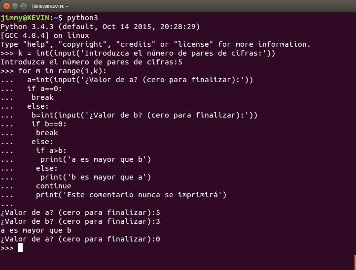 python condicional if else con input() para comparar varios pares de números