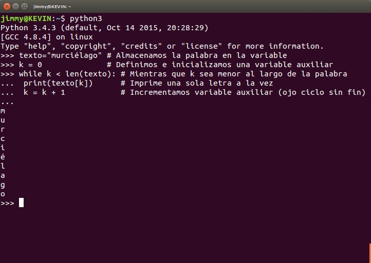 python indexado de una cadena de texto