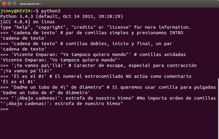 python3 uso de cadenas de texto