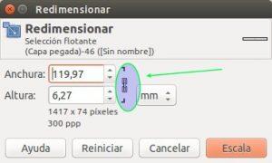 GIMP Redimensionar capa