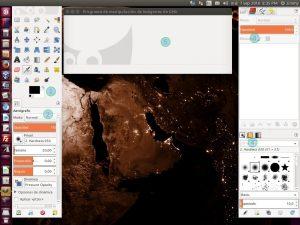 GIMP pantalla de inicio