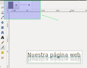 GIMP pestañas de proyectos abiertos