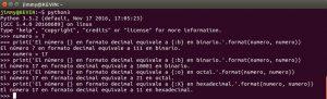 Ejemplos de conversión a otros sitemas de numeración con el comando format().