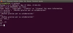 Uso del guion bajo como almacen del último resultado en consola Python