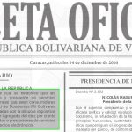 Gaceta OficiaL N° 41052 sumario.