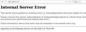 Internal serve error