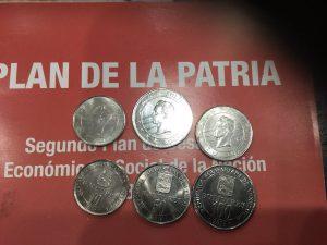 Nuevas monedas venezolanas año 2017.