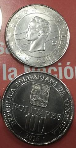 Nueva monedas 2017 Bs. 100.