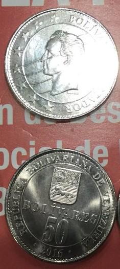 Nueva monedas 2017 Bs. 50.