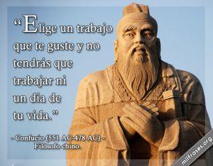 Confucio opina sobre el trabajo.