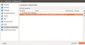 Crear máquina virtual Fedora 25 VBoxGuestAdditions 2