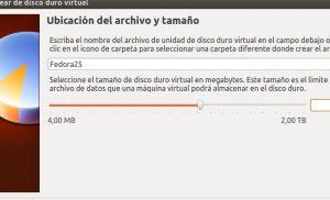 Crear máquina virtual Fedora 25 VirtualBox paso 03