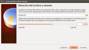 Crear máquina virtual Fedora 25 VirtualBox paso 04