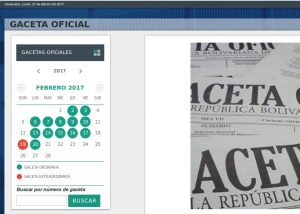 TSJ republicaciones de la Gaceta Oficial de la República al lunes 27 febrero 2017