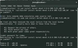 yum install kernel-devel-4.8.9-300.fc25.x86_64 updates