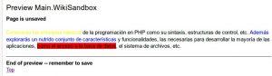 Clases definidas en PmWiki