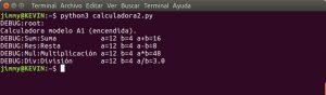salida python3 calculadora2.py