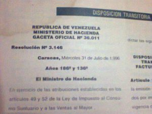 Disposición transitoria ICSVM 1994