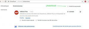 Chromium instalar y configurar extensiones