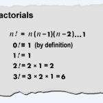 Factorial, fórmula y definición