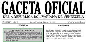 Gaceta Oficial Extraordinario N° 6313 SUMARIO