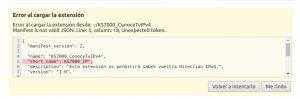 KS7000_ConoceTuIPv4 mensaje de error en comillas de apertura